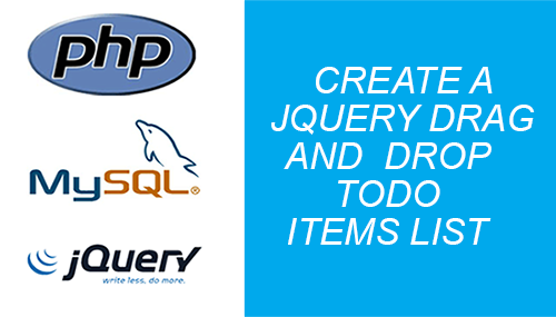 jquery drag and drop todo list items