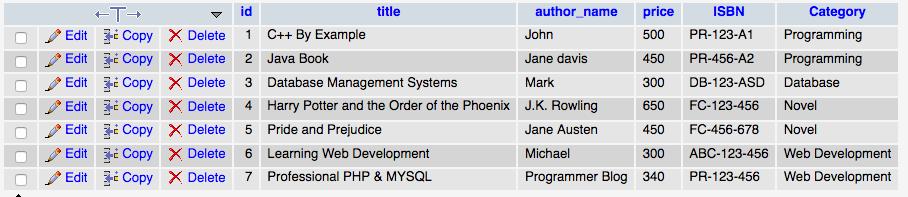 mysql database table - generate xml files using php