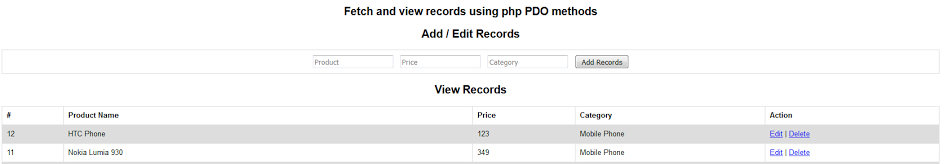 php pdo add records using prepared statements