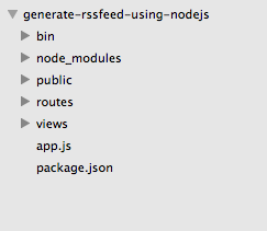 generate RSS feed using nodejs