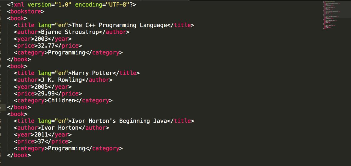 parse xml using xml