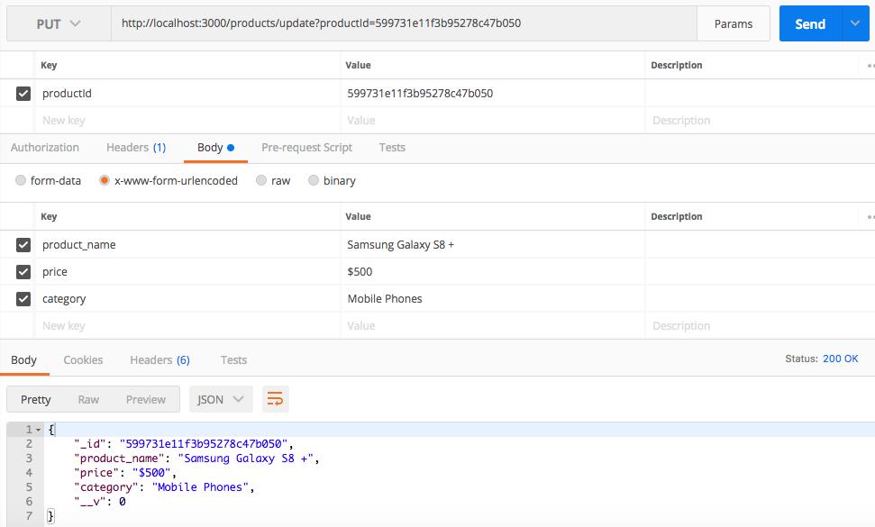 nodejs mongodb rest api add product