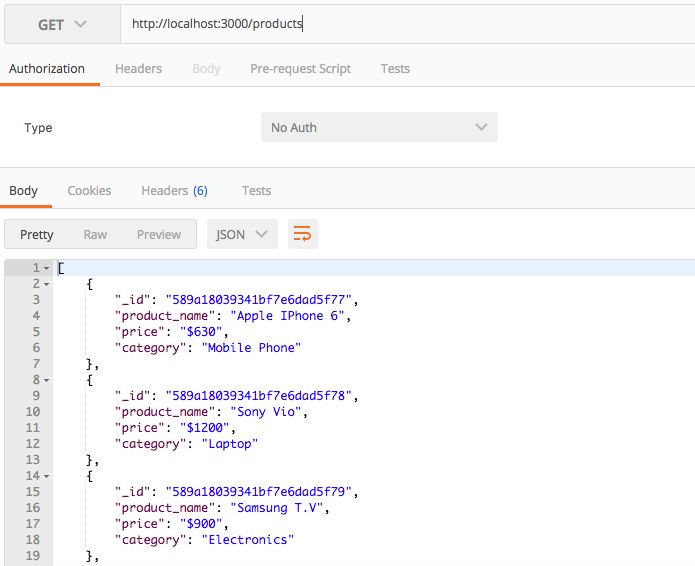 How to create a nodejs mongodb rest api and test with postman