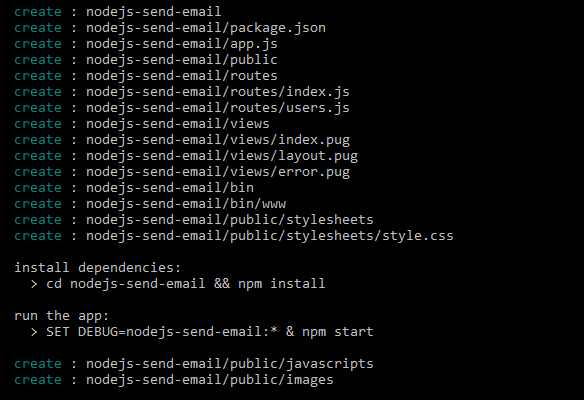 nodejs-send-email-create-project
