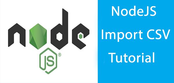 nodejs import CSV tutorial - cover