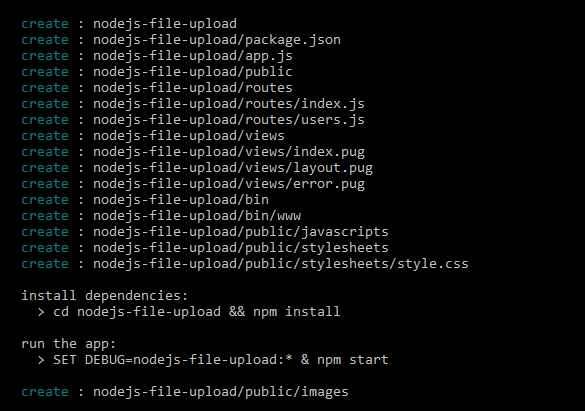 nodejs file upload - app architecture