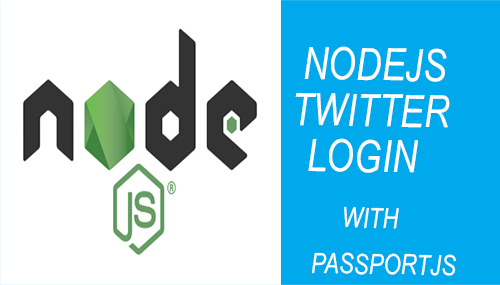 nodejs twitter login - passport js - main image
