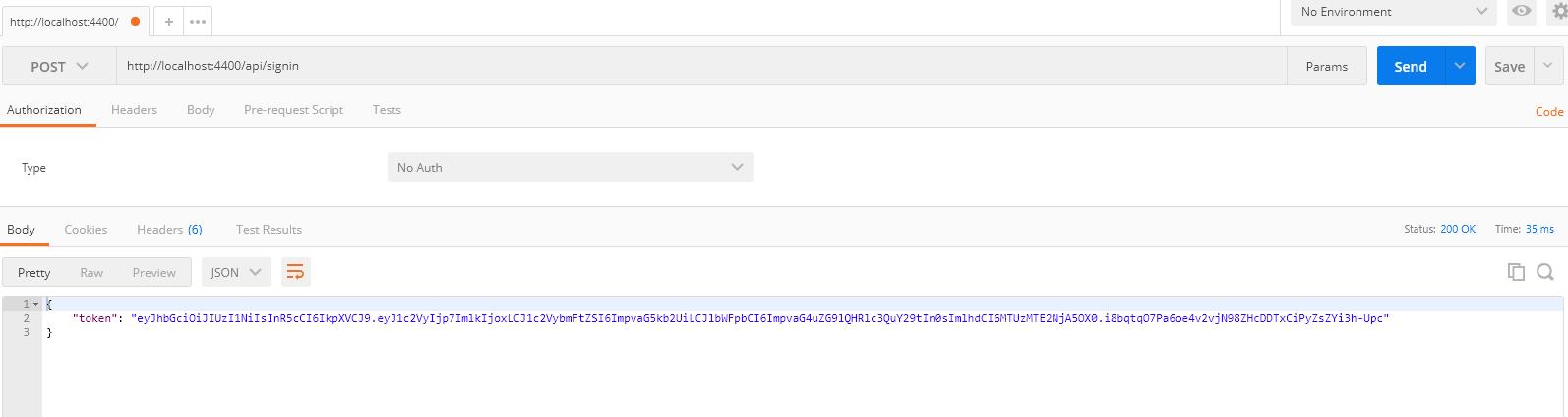 node authentication jwt get token