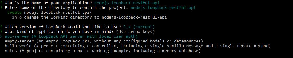 nodejs loopback rest api
