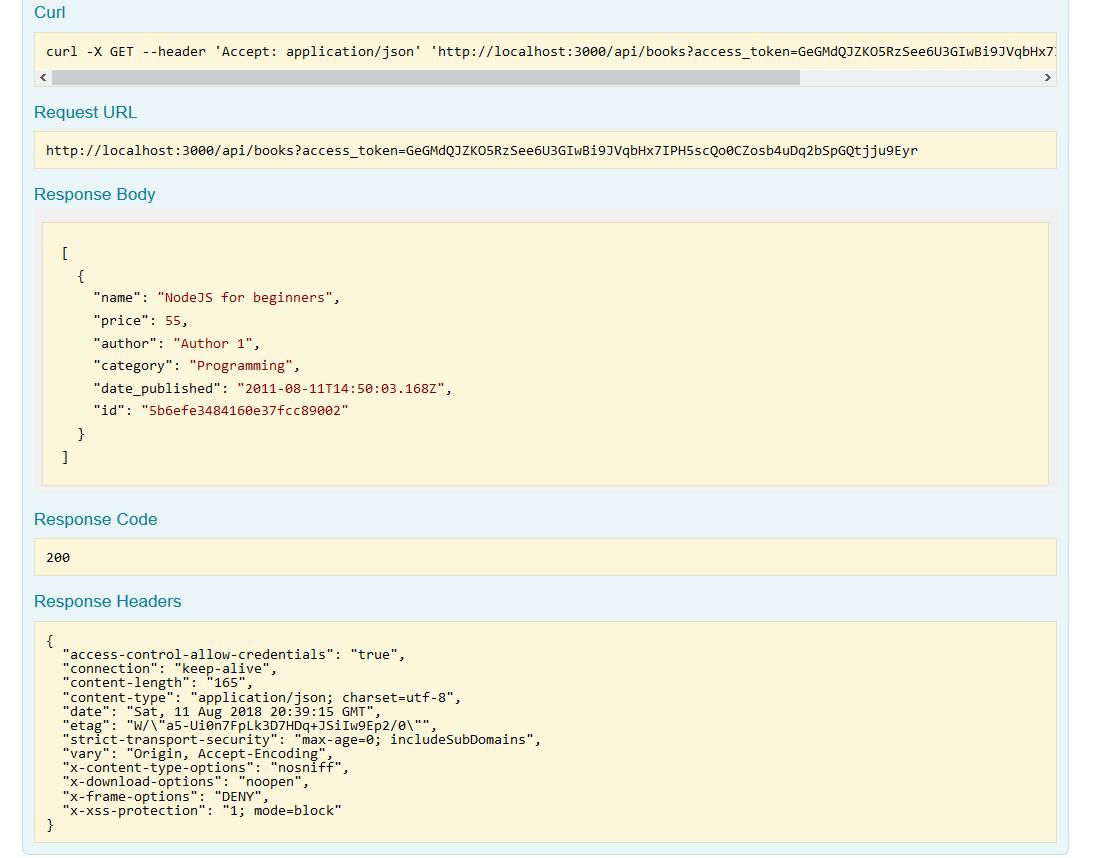 nodejs loopback restful api with access token