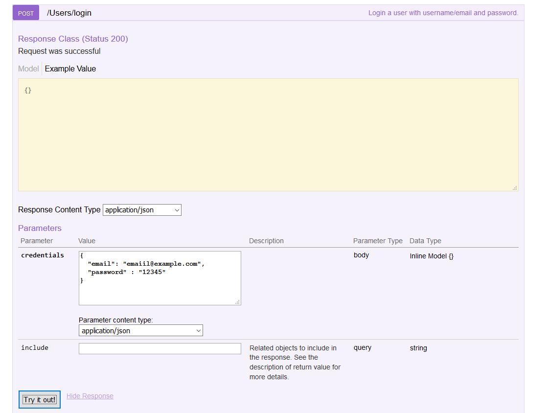 nodejs restful api get access token