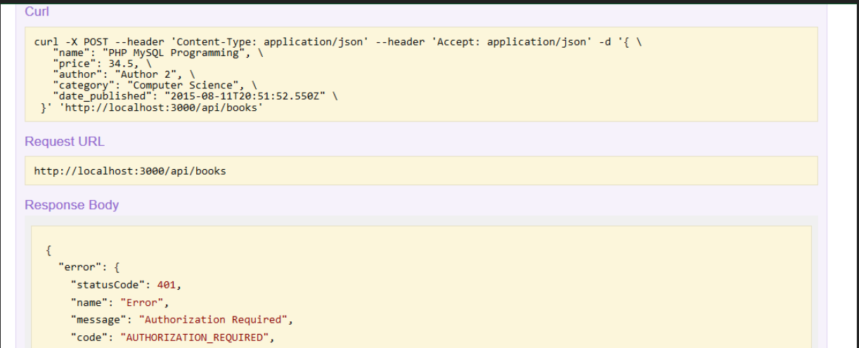 nodejs loopback restful api authorization required