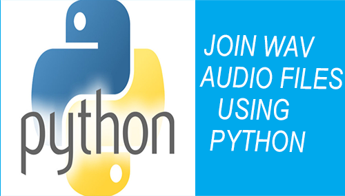 join wav audio files using python
